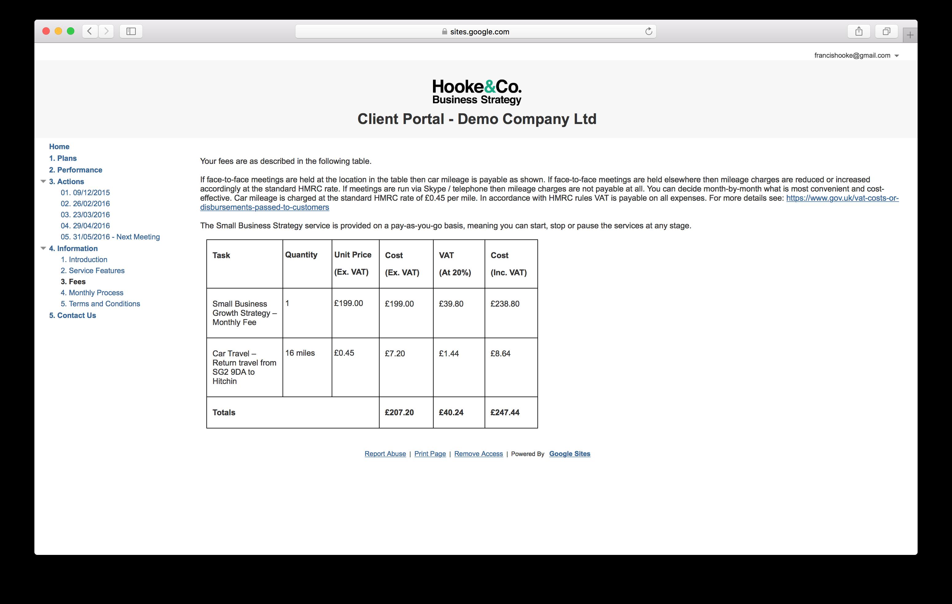 Client Portal - Information